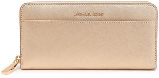 MICHAEL Michael Kors Metallic Textured-leather Continental Wallet