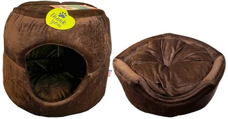 Brown Animal Planet 2 in 1 Convertible Pet Bed