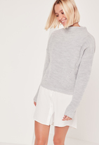 Missguided Grey High Neck Sweater