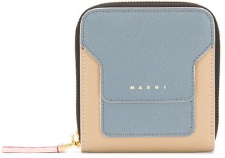 Marni Zip-Around Calf Leather Wallet