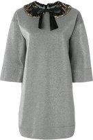 Gucci pan collar lurex dress