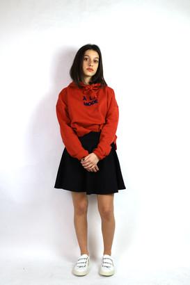 "Maison Labiche A LA MODE"" HOODIE CROP - XS . | cotton | pumpkin - Pumpkin"