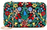 Alice + Olivia Chelsea Floral-embroidered Box Clutch