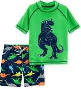 Carter's 2-Pc. Dinosaur Rash Guard and Swim Trunks Swim Set, Toddler Boys