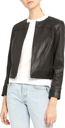 Theory Jean Bristol Leather Moto Jacket
