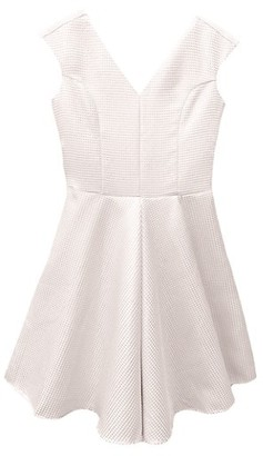 Un Deux Trois Girl's Quilted Jacquard Dress