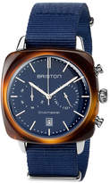 Briston Clubmaster Vintage Acetate Chronograph Watch, Tortoise/Blue