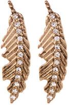 Betsey Johnson Rhinestone Feather Drop Earrings