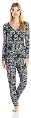 Josie Natori Josie by Natori Women's Fountain Art Jersey Knit Pj