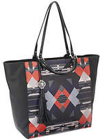 Rafe As Is Large Joey Coated Canvas Tote w/ Leather Trim