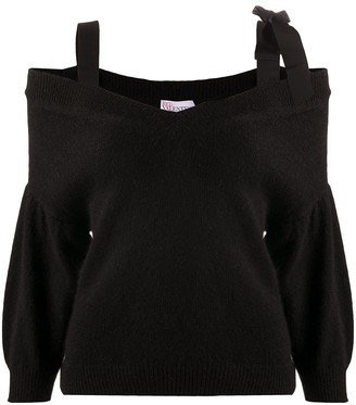 RED Valentino Ribbon-Detail Knitted Jumper