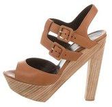 Pierre Hardy Leather Platform Sandals
