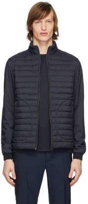 Herno Navy Matte Nylon Jacket