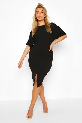 boohoo Plus Wiggle Midi Dress