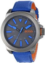 HUGO BOSS BOSS Orange Men's 1513008 New York Analog Display Quartz Blue Watch