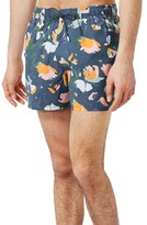 Topman Men's Floral Print Swim Trunks