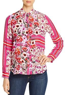 Elie Tahari Ingunn Printed Silk Blouse
