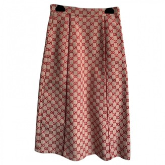 Gucci Red Cotton Skirt for Women