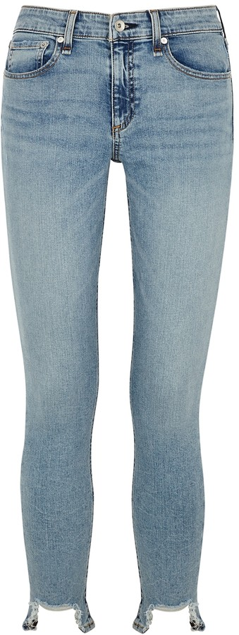 Thumbnail for your product : Rag & Bone Cate Light Blue Skinny Jeans