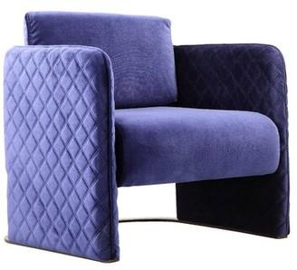 Mercer41 Burchfield Velvet Club Chair Fabric: Navy Velvet