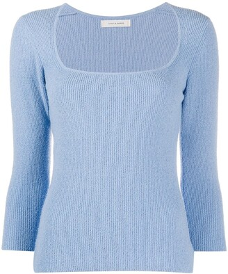 Chinti and Parker Ribbed Scoop-Neck Jumper