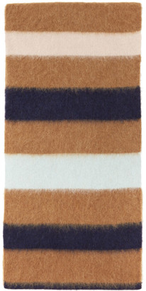 Lanvin Brown Striped Scarf
