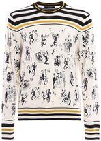 Dolce & Gabbana Jazz Print Cashmere Silk