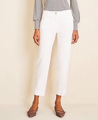 Ann Taylor The Petite Cotton Crop Pant