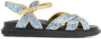 Marni Flat Glitter Sandals