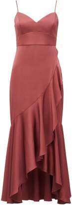 Ever New Hazel Petite Wrap Frill Midi Dress