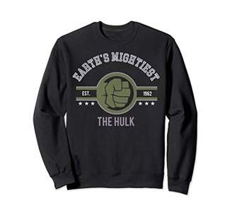 Marvel Avengers Earth's Mightiest The Hulk Logo Sweatshirt