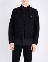 Givenchy Star-embroidered denim jacket