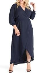 Standards & Practices Elle High/Low Wrap Dress