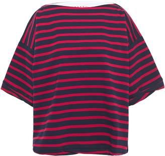 Marni Oversized Striped Cotton-jersey T-shirt
