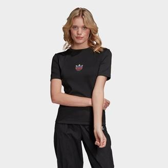 adidas Women's Adicolor 3D Trefoil Slim T-Shirt