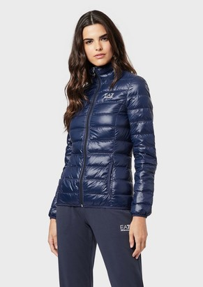 Emporio Armani Full-Zip, Quilted Down Jacket