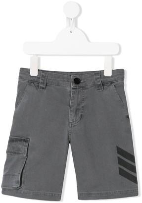 Zadig & Voltaire Kids Striped-Detail Cargo Shorts