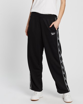 Reebok Women's Black Sweatpants - Classics Vector Tape Pants - Size S at The Iconic