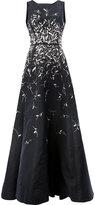 Oscar de la Renta sequin appliqué dress - women - Silk - 6