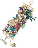 Betsey Johnson Glitter Reef Pearl Statement Bracelet