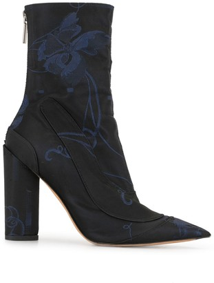 Christian Dior Pre-Owned Floral Print Ankle Boots