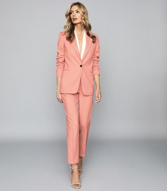 Reiss Phoenix - Single Breasted Blazer in Apricot