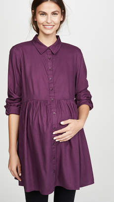 Ingrid & Isabel Peplum Button Down Shirt