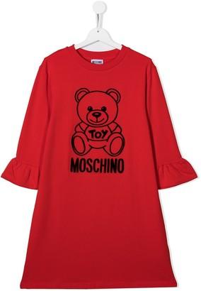 MOSCHINO BAMBINO TEEN teddy bear T-shirt dress