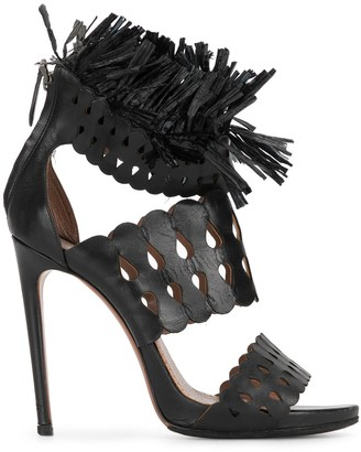 Alaïa Pre-Owned High-Heel Fringed Sandals