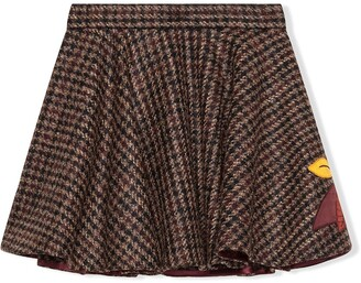 Dolce & Gabbana Kids Embroidered Tweed Skater Skirt