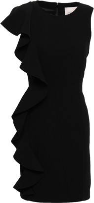 Cinq à Sept Kimberlin Ruffled Brushed-crepe Mini Dress