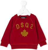 DSQUARED2 maple leaf sweatshirt - kids - Cotton - 6 mth