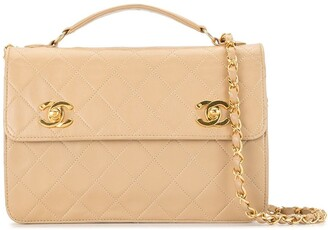 Chanel Pre Owned 1990 Diamond Quilted Two-Way Bag