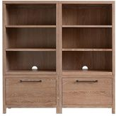 Pottery Barn Kids Charlie Storage Wall 2 Drawer Bases & 2 Bookcase Cubbies